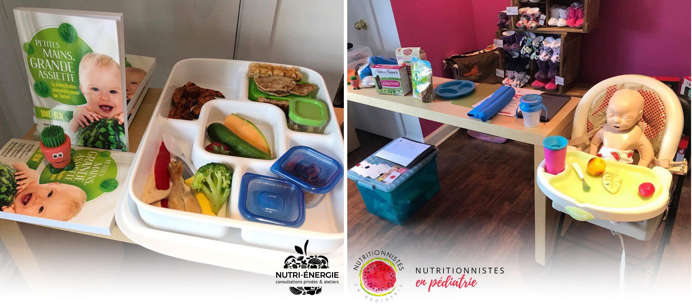 Atelier DME – Espace Zéro déchet – Blainville - Nutri-Énergie - DME :  diversification alimentaire menée par l'enfant