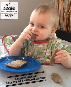 Recette galette de sarrasin Nutri-Énergie