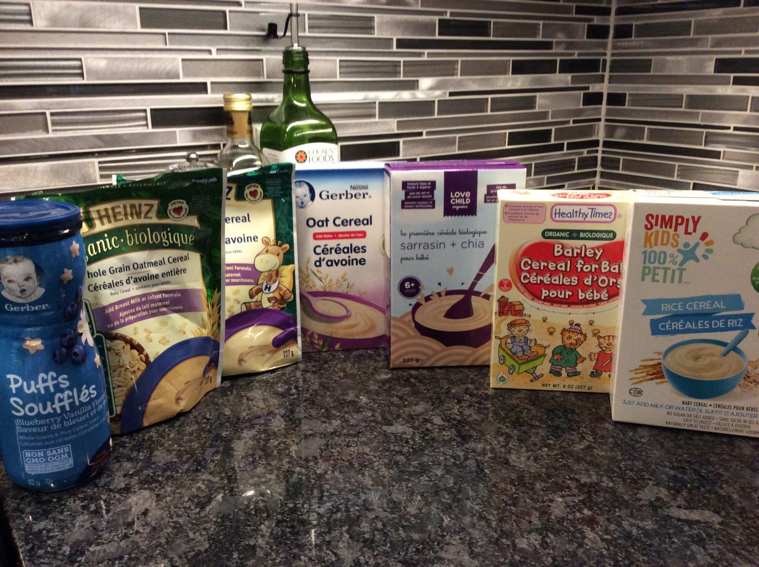 Céréales pour bébé